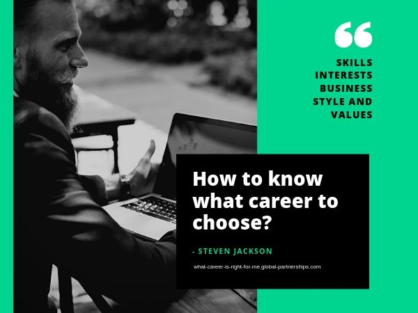 How to know what career is right for me?